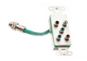 RapidRun Decora Component Video + RCA Stereo Audio Wall Plate - White | C2G 60098