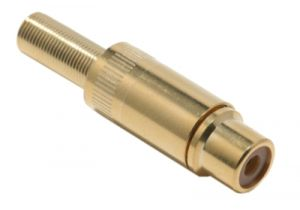 RCA Female Solder Connector - Gold