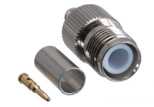 Reverse Polarity TNC Female Crimp Connector - RG58, RG141, LMR-195