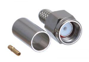 Reverse Polarity SMA Male Crimp Connector - RG58, RG141 & LMR-195