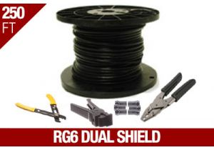 RG6 Dual Shield Coax Cable Installation Kit