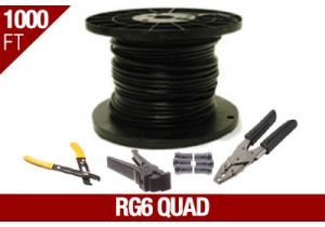RG6 Quad Shield Coax Cable Installation Kit