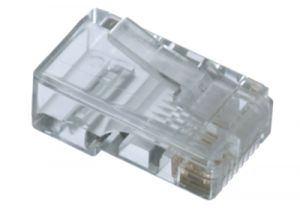 RJ45 Cat6 Connector - 8P8C - Flat Cable - 10 Pack