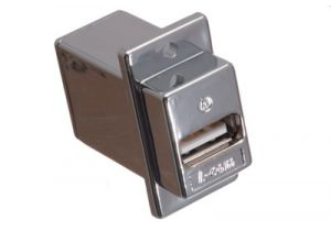 Shielded USB 2.0 Type A Feed-Thru Panel Mount Coupler