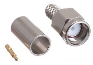 SMA Male Crimp Connector - RG58, RG141 & LMR-195