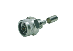 Times Microwave N Male Crimp Connector - LMR-195 - TC-195-NMH-X