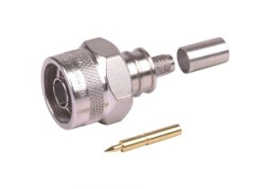 Times Microwave N Male Crimp Connector - LMR-240 - TC-240-NMH-X