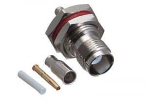 TNC Female Bulkhead Crimp Connector - RG174,  RG188, RG316 & LMR-100