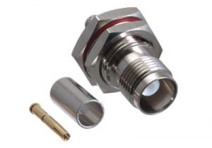 TNC Female Bulkhead Crimp Connector - RG58, RG141 & LMR-195