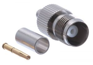 TNC Female Crimp Connector - RG58, RG141 & LMR-195