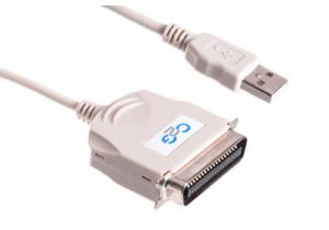 USB 1.1 Type A Male to 36 Pin Centronics Male Adapter Cable - 6 FT