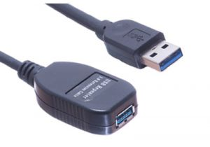 USB 3.0 A Male to A Female Active Extension Cable - 16 FT