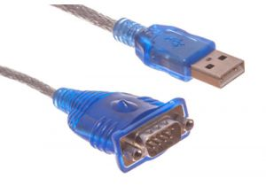 USB to DB9 Male Serial Adapter Cable - 1.5 FT
