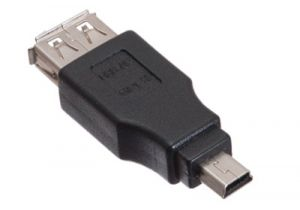 USB 2.0 Female A to Mini B Female Adapter