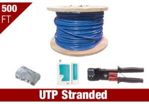 Cat5e UTP Stranded Patch Cable Kit - Blue