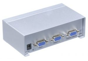 2-Way VGA Video Splitter Extender (1-in/2-out)