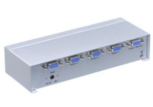 4-Way VGA Video Splitter Extender(1-in/4-out)