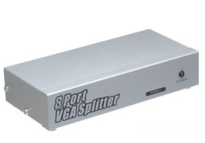8-Way VGA Video Splitter Extender (1-in/8-out)