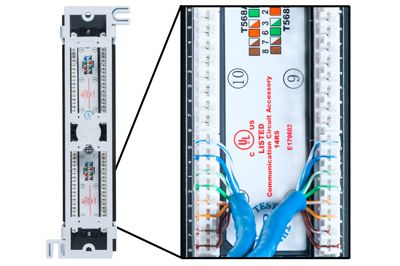cat5e 110 style vertical patch panel 12 port showmecables com rh showmecables com 110 ATV Wiring Diagram 110Cc ATV Wiring Diagram