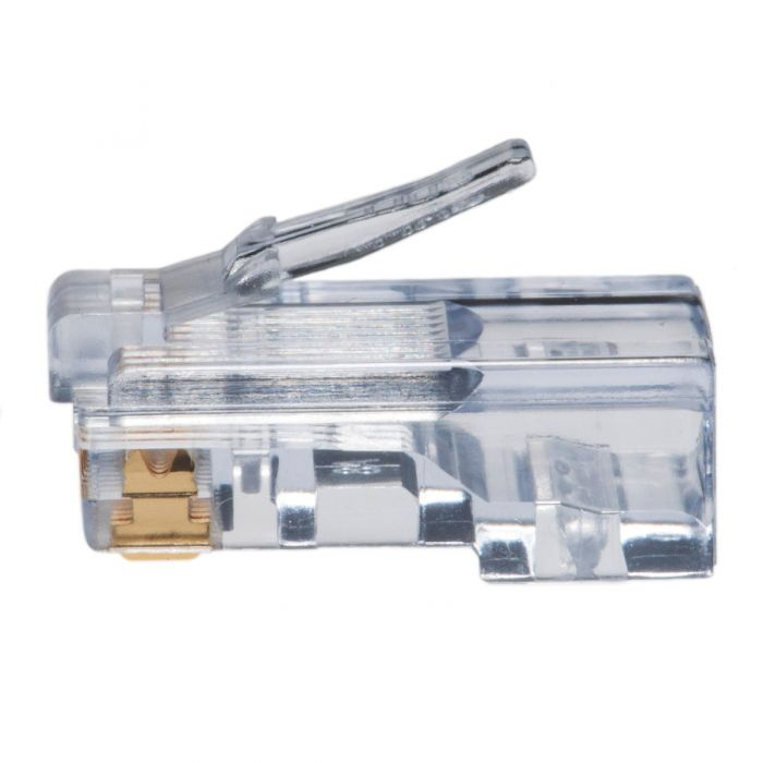 Ez Rj45 Cat5e Connector Stranded Or Solid Cable Voice Grade Jack Wiring Standard Feed Through 8p8c