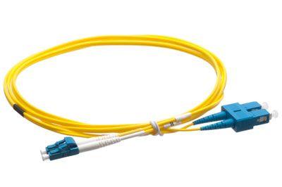 1M Plenum Fiber Cable - Singlemode LC/SC | ShowMeCables.com
