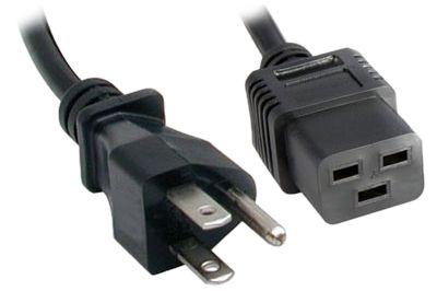 server power cord nema 5 15p to c19 15 amp trianglecables com rh trianglecables com