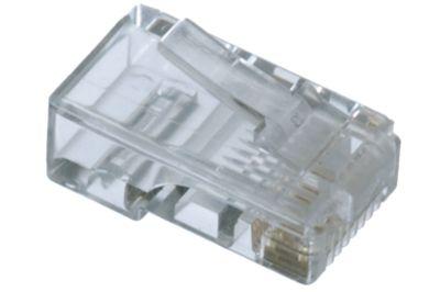 RJ45 8 Position Modular Plug for Flat Cable   ShowMeCables.com