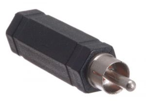 1/4 IN Mono Female to RCA Male Adapter - Plastic
