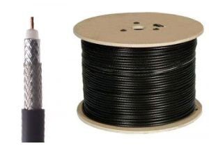 Belden 9914 - RG8 95% Shield Coax Cable - BC - Black - 1000 FT
