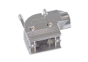 DB9 & HD15 VGA Right Angle Hood - Metal