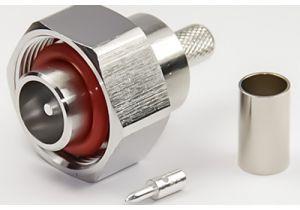4.1/9.5 Mini-DIN Male Crimp Connector - RG8x & LMR-240