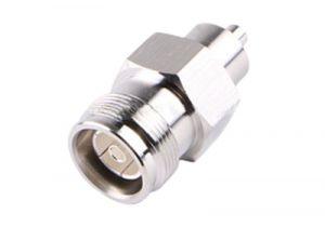 4.3/10 Mini-DIN Female Bulkhead Crimp Connector - RG8x & LMR-240