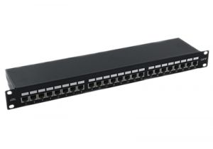 Shielded Cat5e Patch Panel - 24 Port