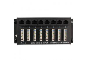 Construct Pro 8x8 Cat5e 110 Punchdown Patch Panel