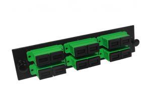 Single Mode Fiber Adapter Panel - 6 Ceramic Duplex SC/APC - 12 Ports Total