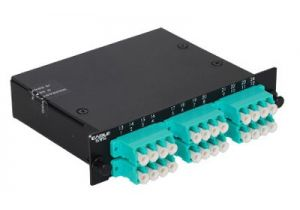 LC Multimode Duplex MTP/MPO Fiber Optic Cassette - 10GB - 12 Port