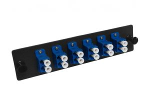 Single Mode Fiber Adapter Panel - 6 Duplex LC - Ceramic - 12 Ports Total