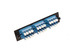 Single Mode Fiber Adapter Panel - 6 Quad Couplers LC/UPC - Ceramic - 24 Ports Total