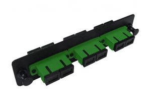 Single Mode Fiber Adapter Panel - 3 Ceramic Duplex SC/APC Couplers