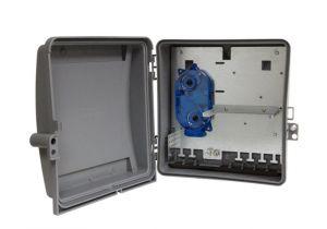 Wall Mounted Plastic Fiber Adapter Panel Enclosure - 24 Ports