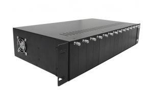 Media Converter Rackmount Chassis w/ Power Supply - 14 Slots - 2U