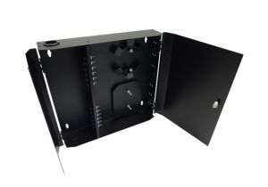 Loaded Wall Mount Fiber Enclosure - 12 Multimode ST Simplex Couplers - 12 Port