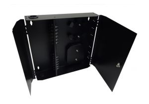 Loaded Wall Mount Fiber Enclosure - 24 Multimode ST Simplex Couplers - 24 Port