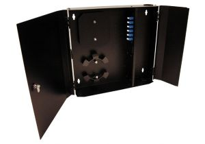 Loaded Wall Mount Fiber Enclosure - 6 SM + 6 MM LC Duplex Couplers - 12 Port