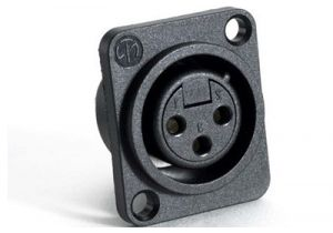 XLR 3 Pin Female Chassis Mount Connector - Plastic