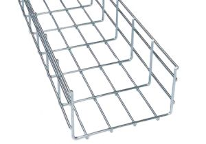 "Wire Mesh Cable Tray - 2"" Deep and 10' Long"