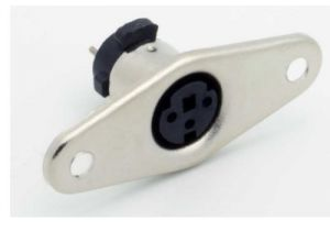 Mini 3 Pin DIN Female Solder Panel Mount Connector