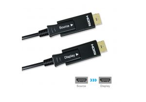 4K x 2K 60Hz 18GHz Fiber Optic/Hybrid HDMI Cable with Micro HDMI Adapter, LSZH Jacket