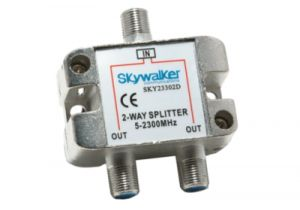 2-Way Coax Splitter - 5 to 2300 MHz - All ports Power Passive