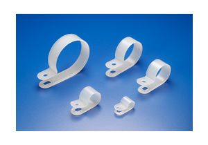 Clear R-Type Cable Clamp - 100 Pack